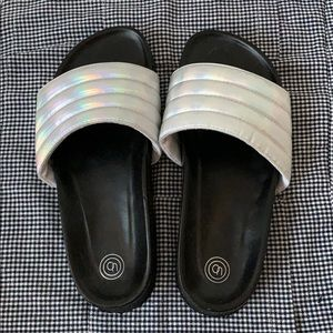 Urban Outfitters Iridescent Slides/Sandals
